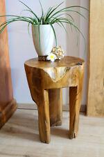 Hocker Teak Holz Wurzelholz massiv Blumenständer Beistelltisch Podest Säule wood