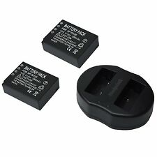 2x Replacement battery NP-W126 + USB Dual Battery Charger for Fujifilm XE-2 X-T1