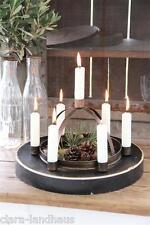 Kerzenleuchter Kerzenhalter Metall Vintage Cottage brass goldfarben Shabby Chic