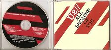 """U2 """"ALL BECAUSE OF YOU"""" UK 1 Track Promo CD"""