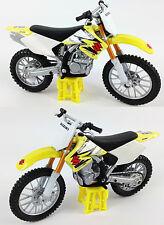 SUZUKI RMZ-250 1:18 Die-Cast Motocross MX Toy Model Bike Yellow NEW MAISTO