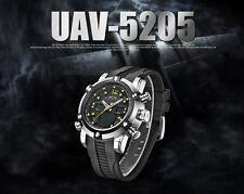 WEIDE Men's Aviator Dual Time LED Digital Analogue Quartz Wrist Watch 3ATM BNWT