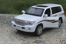 Toyota Land Cruiser 1:32 Alloy Diecast Car Model Sound & Light White Collection
