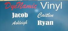 Vinyl Name Removable Decal Sticker Custom Personalise 150mm x 50mm