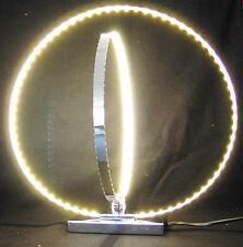 LED Tischleuchte mit zwei Ringe 30+37cm H:40cm, Designleuchte, Highlight #5907