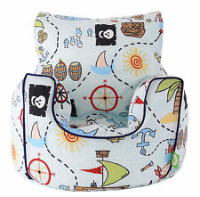 Cotton Pirate Island Bean Bag Arm Chair with Beans Toddler Size From Bean Lazy