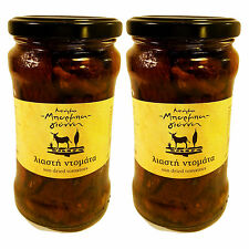 Greek Sun Dried Tomatoes in Olive Oil with Herbs Traditional Flavour 600gr