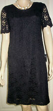 PAUL SEPERATES Black Lace Style Lined Short Sleeve Party  Dress Size 12