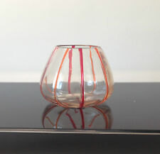 Lovely Vase with Red/Orange Lines
