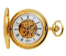 Woodford Gold Plated Mechanical Demi Hunter Pocket Watch. ref 1021
