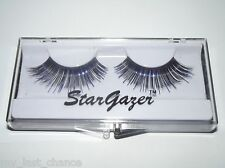 Stargazer Purple Foil & Black False Eyelashes #8 gothic cyber eye lashes glam