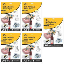 5 Packs Self Adhesive A4 Inkjet Photo Paper 50 Sheets Total - Holiday Photos Etc