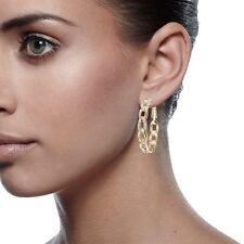 18K Rose Gold Filled Women Jewelry Diamond Hoop Earrings 039EF