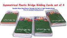 Bridge Bidding Cards set of 4  Elegant Symmetrical Plastic refills for all boxes