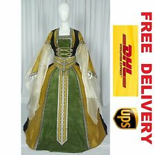 MEDIEVAL RENAISSANCE TUDOR WEDDING HANDFASTING LARP GOWN DRESS COSTUME --- 18K