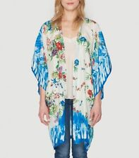 NEW JOHNNY WAS $234 Printed Kimono Floral Cape Jacket Bohemian Cardigan - XS NWT