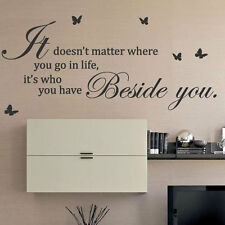 It Doesn't Matter Where You Go Butterfly Art Wall Sticker Quotes Wall Decals 32