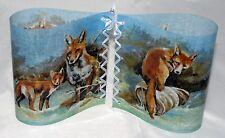 1 Windlicht Dekoleuchte Füchse im Schnee Tischleuchte Dekolampe 2verschied Seite