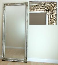 Portland Large Champagne Silver Vintage Full Length Wall floor Mirror 160 x 72cm