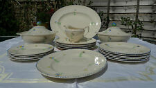 Rare Dinner Set, Royal Ivory Daffodil, Vintage - hand painted, John Maddock