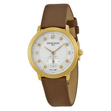 Frederique Constant Slimline Mother of Pearl Dial Gold-plated Ladies Watch-AU