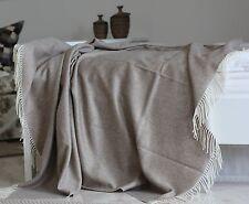 Kaschmirdecke Doppelt, Kaschmirplaid, Wolldecke aus Kaschmir 150x195 cm