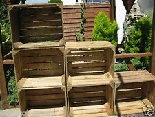 6 amazing solid vintage wooden apple crates boxes