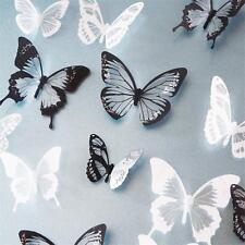 18pcs DIY 3D Butterfly Wall Stickers Art Decal PVC Butterflies Home Decor New