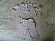 NEWBORN BABY GIRLS PINK OUTFIT TROUSERS & BLOUSE 5KG 11 LBS HARDLY WORN