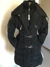 Women's Large Black Down Puffer Coat,L,Solid,Jessica Simpson,NWT