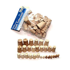 New 30pcs 100% Natural Cork Kitchen Red Wine Bottle Stopper Assorted All Size