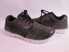 New Look Black Bronze Ladies Fashion Gym Running Trainers UK Size 7 #10D416