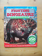 FIGHTING DINOSAURS STICKER & ACTIVITY BOOK - NEW - RRP £4.99 - FREE P&P