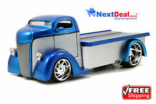 1947 Ford COE Flatbed Tow Truck Blue/Silver Jada 1:24 scale Diecast Model Car