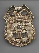 VINTAGE! OBSOLETE!  NEW YORK CITY POLICE BADGE - TRIBOROUGH  BRIDGE SARGENT