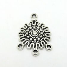 10 Connectors Boho Style 1-3 Hole Antique Silver Tone Jewellery Findings J00324