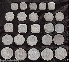 15 Coins- 5 Different  INDIA COINS--# us- FREE SHIPPING