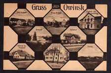 79212 AK Owinsk bei Posen Gasthof Bahnhof Schule Post Ärztehaus Schloss 8 Bilder