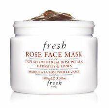 FRESH ROSE FACE MASK HYDRATES TONES FULL SIZE 3.3 OUNCES NEW!