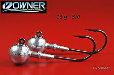 OWNER CUTTING POINT™ JIG HOOK 28 g 5/0 PROFESSIONAL HEAD LEAD JIGHEADS