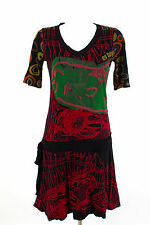 Desigual Kleid Gr M / 38 Shirtkleid Stretchkleid Sommerkleid Jersey Casual Dress