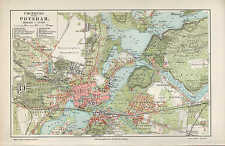 Landkarte map 1908: UMGEBUNG VON POTSDAM. Brandenburg Havel Sanssouci