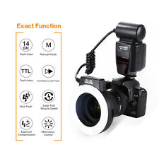 KF-150 TTL Macro Ring Flash Light Slave Unit for Canon with 4 Adapter Rings AU