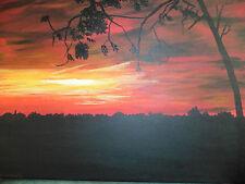 Schönes Gemälde Acryl Leinwand Keilrahmen 30 x 40 cm Rote Wolken