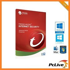 Trend Micro Internet Security 2017 License 3 PC Mac 1-Year Anti-virus Firewall