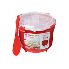 Sistema Microwave Rice Cooker Steamer Bowl On The Go Clip On Lid 18011100