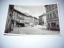 AK Postkarte Schleiz Thüringen DDR Teichstrasse 50er Handabzug Foto alte Autos