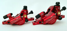 Juin Tech R1 Hydraulic Cable Pull Disc Brake Set Red - Cyclocross (CX) | Road
