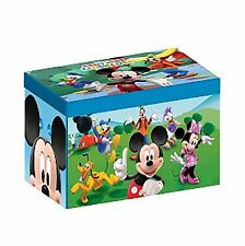 NEW DELTA CHILDREN DISNEY MICKEY MOUSE COLLAPSIBLE FABRIC TOY BOX NURSERY TOYBOX
