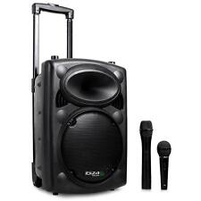 """500 W PORTABLE BLUETOOTH SPEAKER ACTIVE 10"""" PA USB SD MP3 SYSTEM + MICROPHONES"""